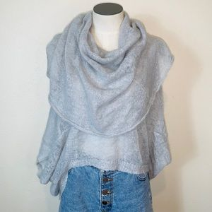 Anthropologie Guinevere cowl neck blouse gray top